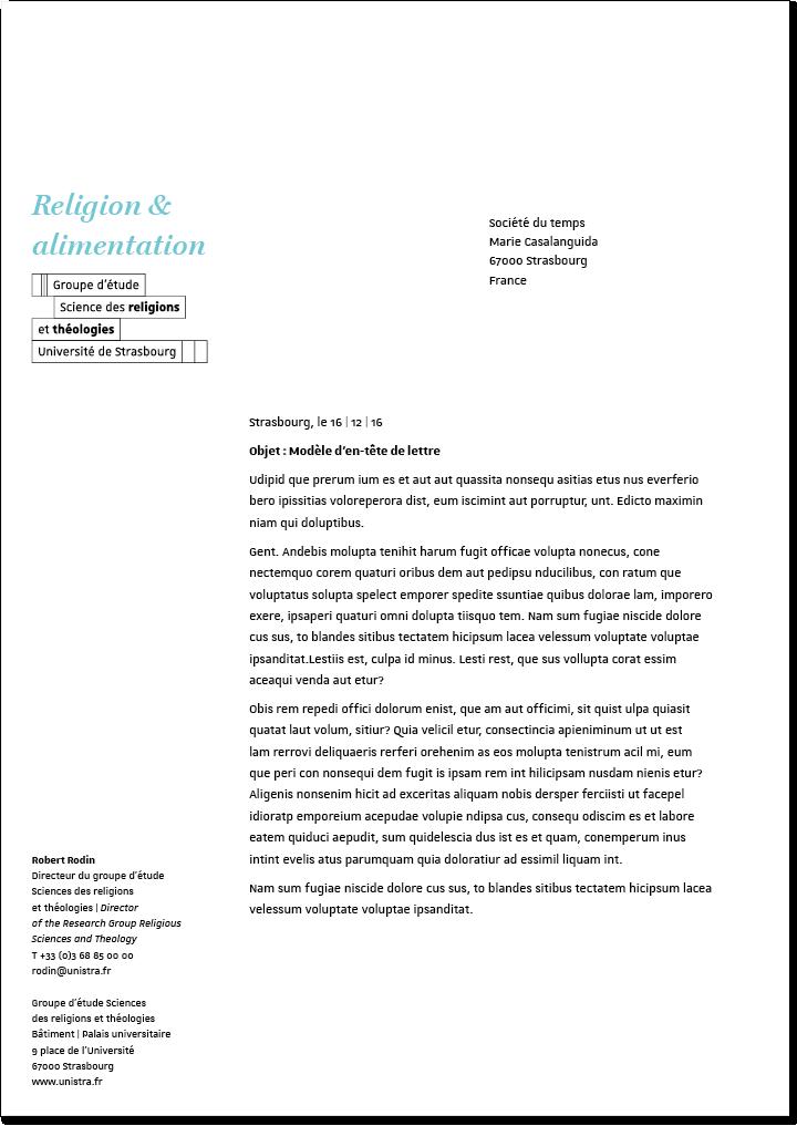 Courriers Boite A Outils Graphique De L Universite De Strasbourg